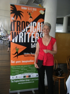 Diane and Tropical Writers Festival banner