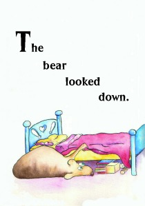 the bear looked down1